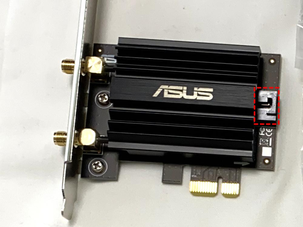 ASUS PCE-AX58BT後部に接続