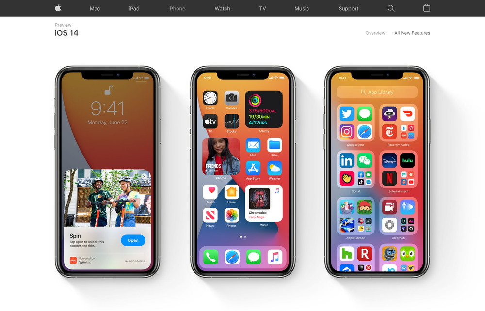 iOS 14の対象機種はiPhone 6s以降とかなり古い機種にも対応する