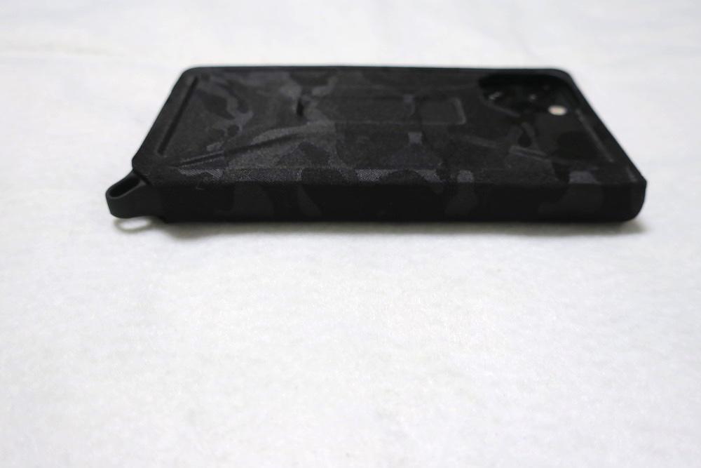 エレコム iPhone 11 Pro ケース ZEROSHOCK フラップタイプ 背側面