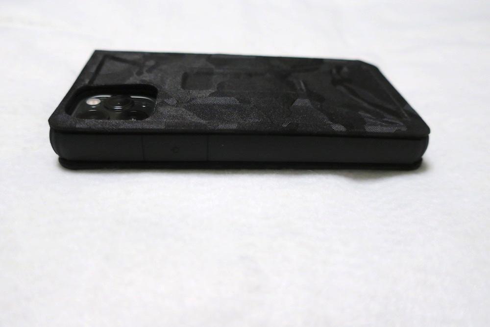エレコム iPhone 11 Pro ケース ZEROSHOCK フラップタイプ 側面
