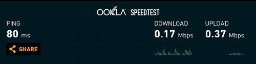 DTI ServersMan SIM LTE スピードテスト 1回目