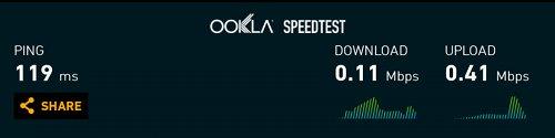 DTI ServersMan SIM LTE スピードテスト 2回目